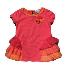 Petit Lem Ruffle Shirt Short Sleeve Size 9 Months Photo
