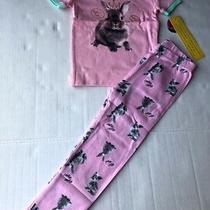 Petit Lem Sleep Toddler Pajamas Size 5 Short Sleeves Pink  Nwt Photo
