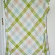 Peyton & Parker Linen Pastels Plaid Dress Sz. M Photo