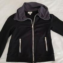 Ph8 by Bebe Black Jacket Women's Sz M Large Zipper Pockets Photo