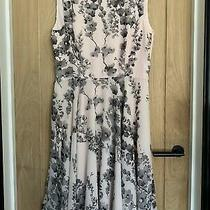 Phase Eight Black Blush Pink Nude Floral Dress Size 14 Wedding Summer Holiday Photo