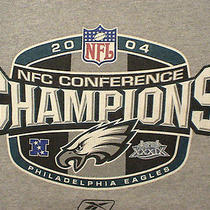 Philadelphia Eagles Youth or Adult Small Champions 2004  T Tee Shirt Photo