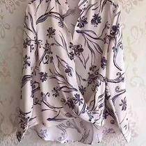 Philip Lim 3.1 Floral Print White Top Wrap Top Silk Size 4 Small Nwot  Photo