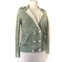 Philip Lim 3.1 Sweater Cardigan Size Small Green Linen Silk Photo