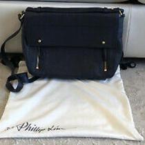 Phillip Lim 3.1 Pashli Navy Blue Leather Messenger Bag - Euc - Retail 750 Photo