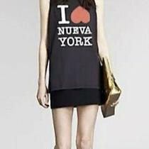 Phillip Lim 3.1 Womens Black I  Nueva York Crew Neck Tank Blouse Top Size S Photo