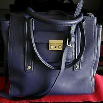 Phillip Lim Target 3.1 Large Purple Satchel Tote Bag Faux Leather Handbag Photo