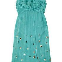 Philosophy Di a Alberta Ferretti Embellished 12 Silk Chiffon Dress Nwt Us8 1010 Photo