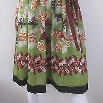 Philosophy Di Alberta Ferretti Made in Italy Self Tie 100% Silk Skirt Size 4 Photo