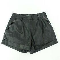 Philosophy Di Lorenzo Serafini Size 8 Uk Leather Look Mini Shorts  Photo