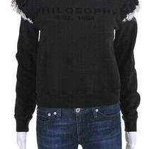 Philosophy Di Lorenzo Serafini Womens Sweatshirt Black Size Small 11447429 Photo