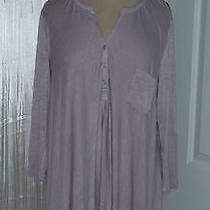 Philosophy Mauve Blush Open Back  High-Low  Hem Slub Tee Tunic Top Sz S Nwt 58 Photo