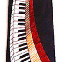 Piano Organ Keyboard Music Musical Men's Novelty Necktie Neck Tie Steven Harris Photo