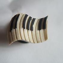Piano White & Black Keys Crocs Jibbitz Shoe With Holes Charm Clog 0.75