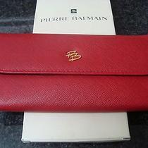 Pierre Balmain Authentic Vintage Jewelry Wallet/purse Burgundy/red Photo
