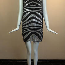 Pierre Balmain Black Tank Top Dress W/ Black and White Stone Stripe Detail - Nwt Photo