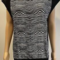 Pierre Balmain Black / Zebra Stripe Short Dress Sz 38 Photo
