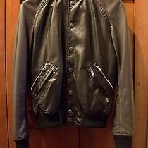 Pierre Balmain Leather Bomber Jacket 46 S Photo