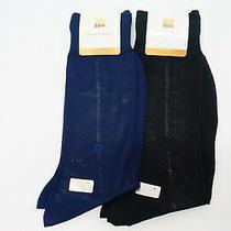 Pierre Balmain Men Sock 25 Cm 2 Pairs Blue and Black Cotton Y2 Photo