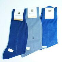 Pierre Balmain Men Sock 25 Cm 3 Pairs Blue and Grey Cotton Y1 Photo