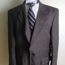 Pierre Balmain Mens Houndstooth Tweed Black Brown Blazer Sport Coat Jacket 42r Photo