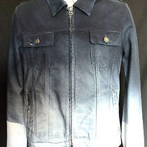 Pierre Balmain Mens Painted Denim  Biker Jacket  Photo