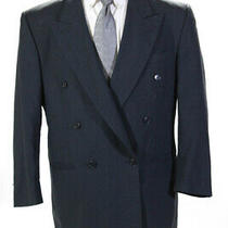 Pierre Balmain Mens Pinstripe Double Breasted Blazer Gray Wool Size 44 Ll19ll Photo