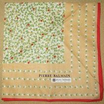 Pierre Balmain  Orange Small Handkerchief 37cm /elekitl Photo