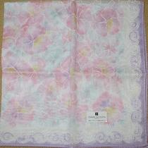 Pierre Balmain Pansy See-Through Handkerchief /daikoku Photo