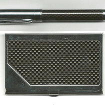 Pierre Balmain Paris Gift Set Pen and Business Card Holder Nib  Nice Gift Photo