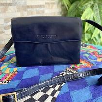 Pierre Balmain Paris Shoulder Bag Leather Blue Navy Messenger Bag  Photo
