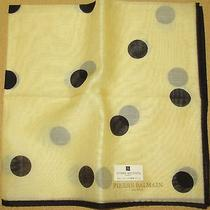 Pierre Balmain Polka See-Through Handkerchief /mifune11 Photo