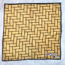Pierre Balmain Scarf Geometric Block Yellow Cotton Bandana Neck Scarf Square 16