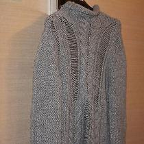 Pierre Balmain Wool Cable Knit Distressed Sweater M  Photo