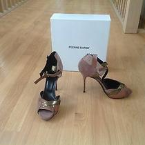 Pierre Hardy Nwb Heels Sandals Blush Gold Leather Stillettos 9 39 Photo