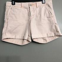 Pilcro Anthropologie Women's Hyphen Shorts Size 27 Pale Pink/coral Photo