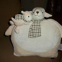 Pillow With Mama Lamb and Baby Lamb  Photo