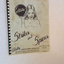 Pinball Machine Manual Strikes and Spares Bally General Game Instructions Parts Photo