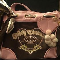 Pink and Brown Juicy Couture Purse or Cute Diaper Bag With Dust Bag Photo