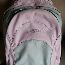 Pink and Gray Jansport Backpack Will Fit 15in Laptop Photo