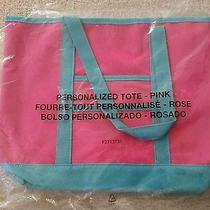 Pink and Turquoise Green Personalized Tote Bag by Avon - Great for Teachers Gift Photo
