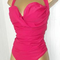 Pink Avon Ruched Swimsuit Plus Size 24 / 26 Control Swimwear Photo