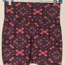 Pink & Black Multi Pattern Tube Skirt by Charlotte Russe Photo