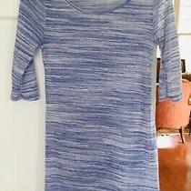 Pink Blush 3/4 Sleeve Long Knit Topsmall100% Polyesterblue & Whiteround Neck Photo