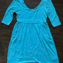 Pink Blush 3/4 Sleeve Teal Maternity Dress Size Medium Photo