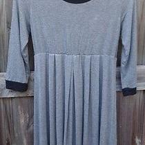 Pink Blush Gray & Black Long-Sleeve Maternity Dress Size L Photo