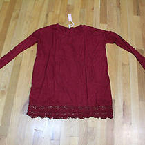 Pink Blush L/s Dress  Size S   Burgundy Crochet  Rayon/spandex   Nwt Photo