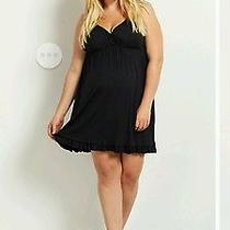 Pink Blush Maternity 3x Black Ruffled Nightgown Photo