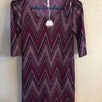 Pink Blush Maternity Black/red Chevron Tunic Top Size S Photo
