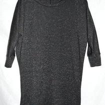Pink Blush Maternity Black Silver Metallic Tunic Shirt Size Small Photo